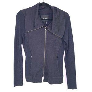 Nic + Zoe Sz Small Zip Up Cardigan Long Sleeve Blu
